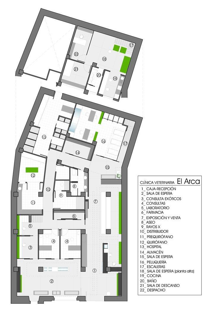 Plano Hospital Veterinario El Arca